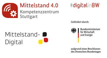 Logos des Projektes Mittelstand 4.0 Kompetenzzentrum Stuttgart