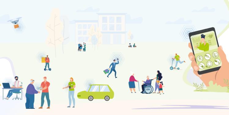 Future Care and Services FuCaSe - Fraunhofer IAO Key Visual